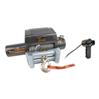 "Mile Marker 24V 12000 lb Winch, 100' 3/8"" Cable, Incl Roller Fairlead, Integrated Solenoids"